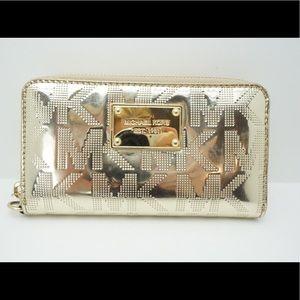 Michael Kors gold wallet mint condition!
